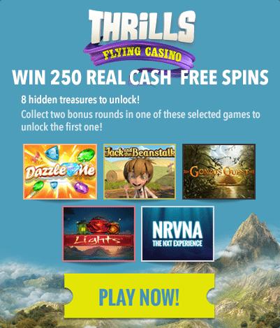 Thrills Casino loyalty points and pokies bonuses